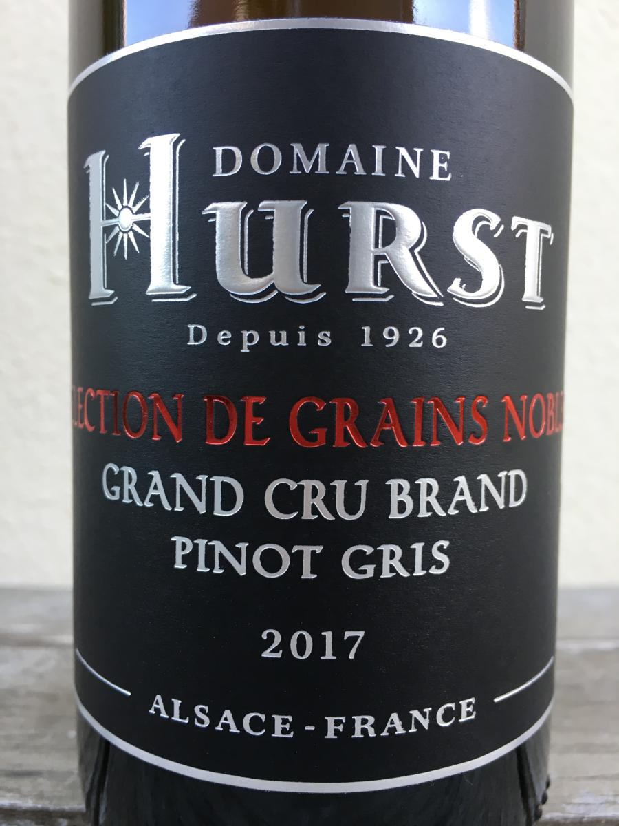 PINOT GRIS SELECTION DE GRAINS NOBLES 2017 GRAND CRU BRAND