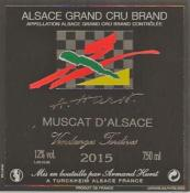 MUSCAT D'ALSACE VENDANGES TARDIVES 2015 GRAND CRU BRAND